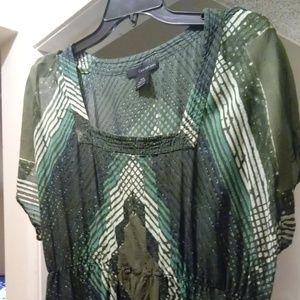 Calvin Klein empire waist casual blouse